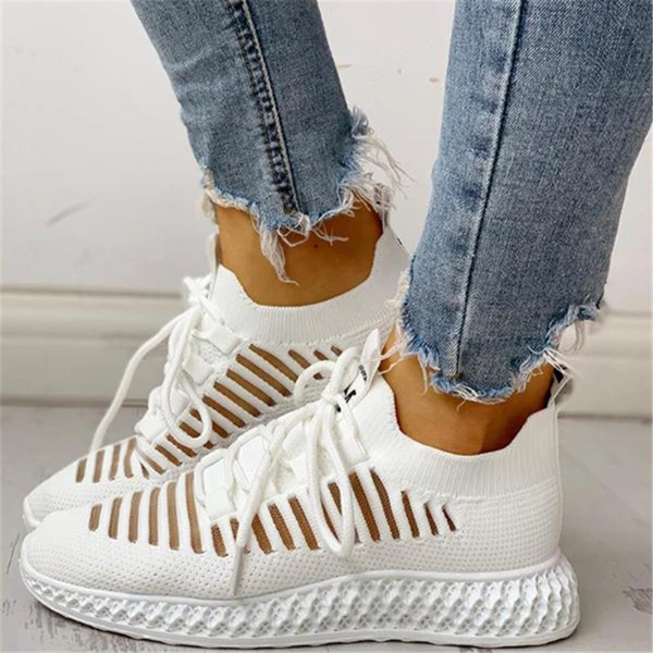 Women's Flats  Lace Up Cut Out Casual Shoes