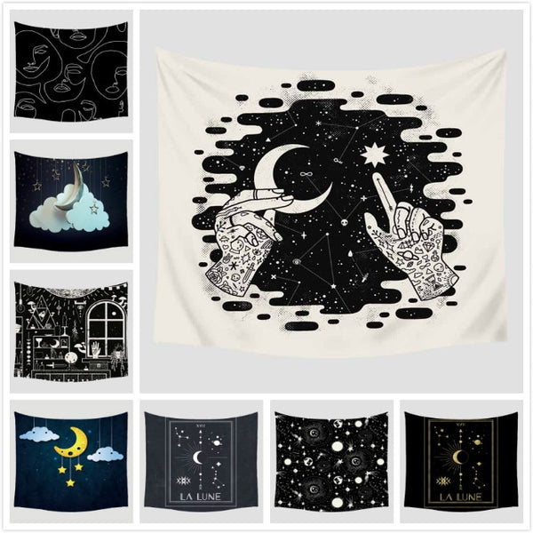 Cartoon Tapestry Home Wall Hanging Furnishing Travel Beach Picnic Polyester Yoga Shawl