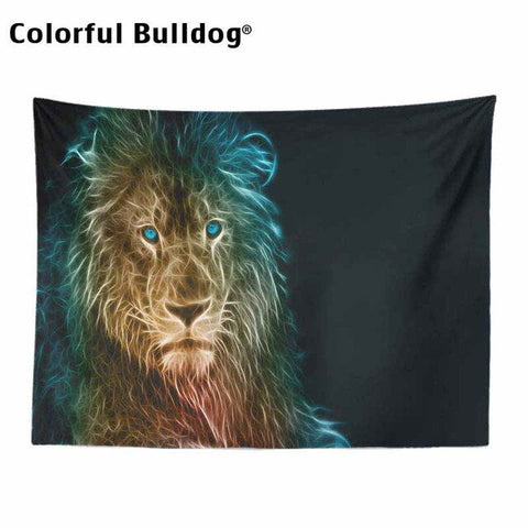 Lion Tapestry Tapestry Animal Psychedelic Forest King