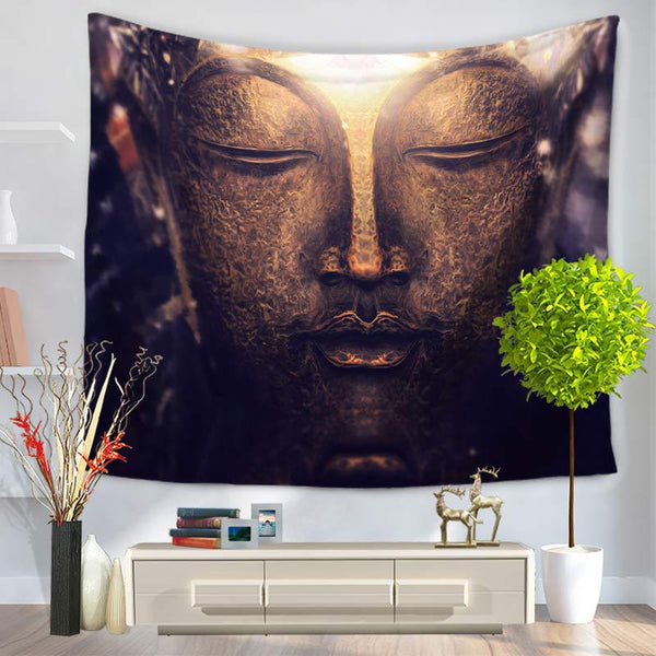 Indian Mandala Tapestry Figure Of Buddha Printed Tapestry