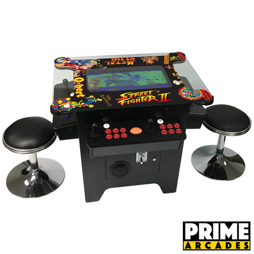 1,162 Games in 1 Cocktail Arcade with Trackballs - Prime Arcades Inc
