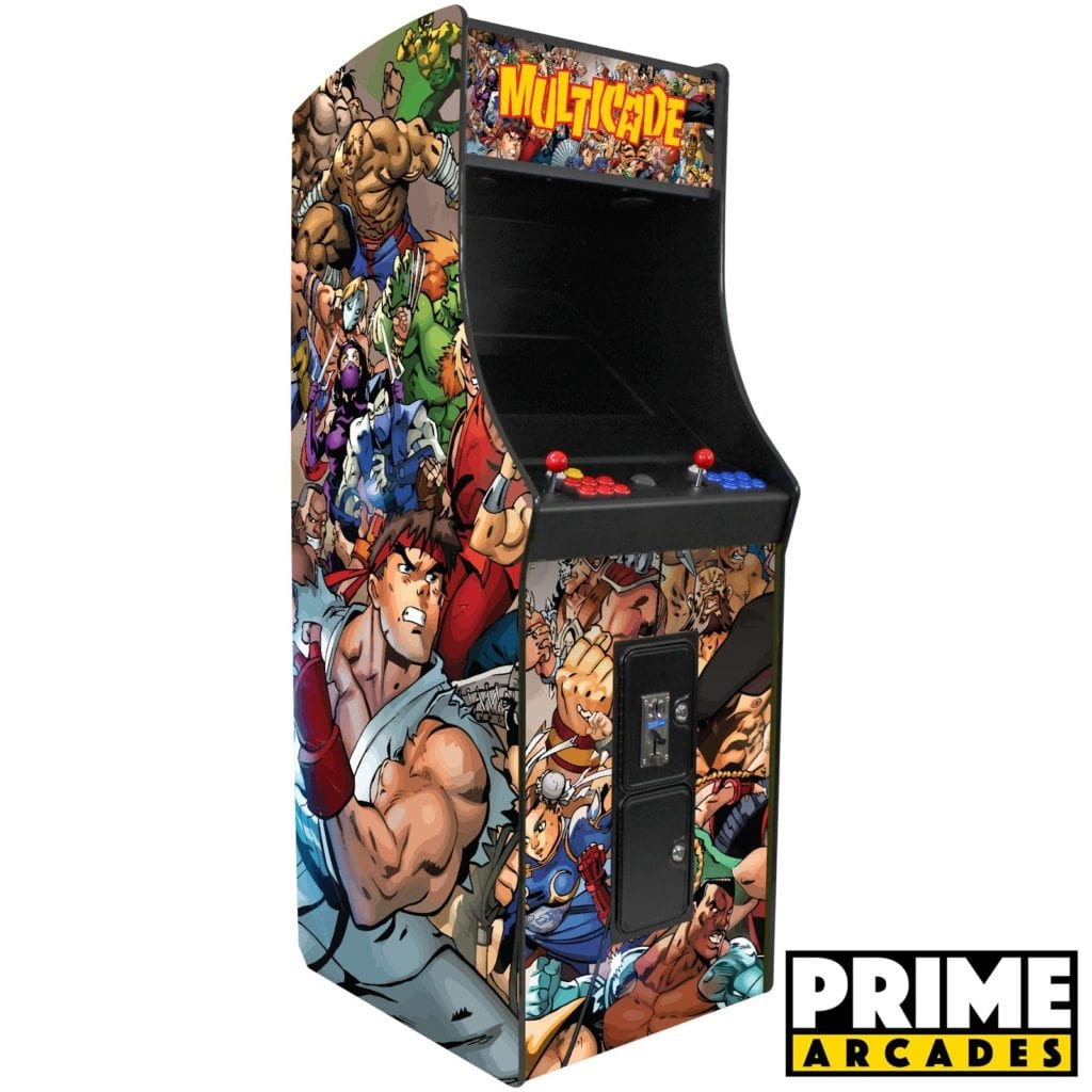 3,016 Games in 1 Stand Up Two Players With Trackball - Prime Arcades Inc