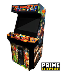 3,016 Games in 1 Four Player Stand Up Arcade 32″ LED Monitor With Trackball - Prime Arcades Inc