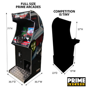 107 Racing Games in 1 Stand Up - Prime Arcades Inc