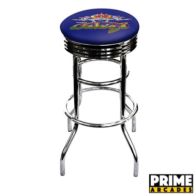 Custom Art 30″ Chrome Swivel Bar Stool – Set of (2) - Prime Arcades Inc