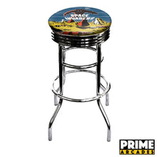 Load image into Gallery viewer, Custom Art 30″ Chrome Swivel Bar Stool – Set of (2) - Prime Arcades Inc