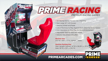 Load image into Gallery viewer, 107 Racing Games in 1 Arcade Machine with Seat - Prime Arcades Inc