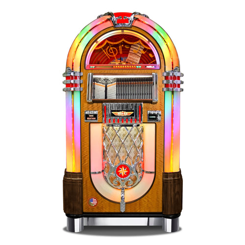 ROCK-OLA BUBBLER CD JUKEBOX IN WALNUT - Prime Arcades Inc