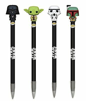 Funko Stylo bille avec embout Star Wars sous licence officielle packs 4 stylos