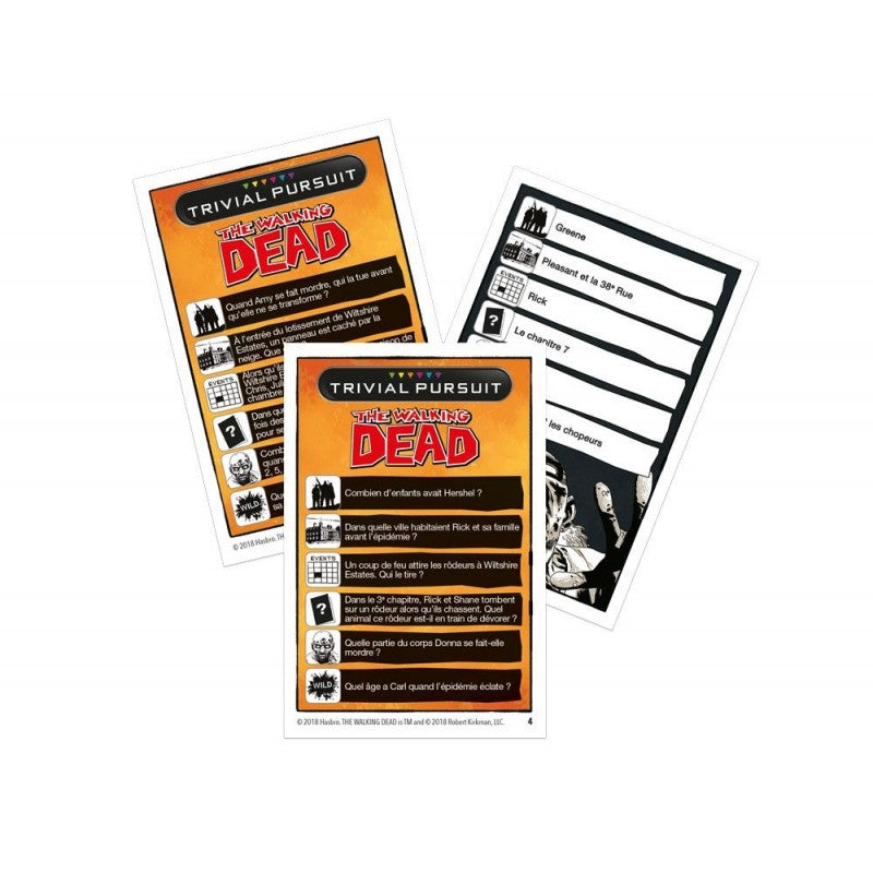 The Walking Dead jeu de cartes Trivial Pursuit Voyage *FRANCAIS*Jeux de cartes