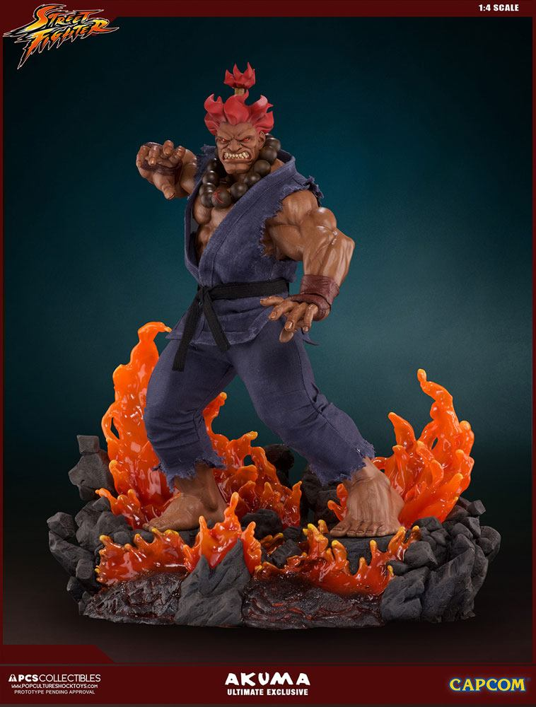 Street Fighter statuette Mixed Media 1/4 Akuma Ultimate Exclusive 58 cm