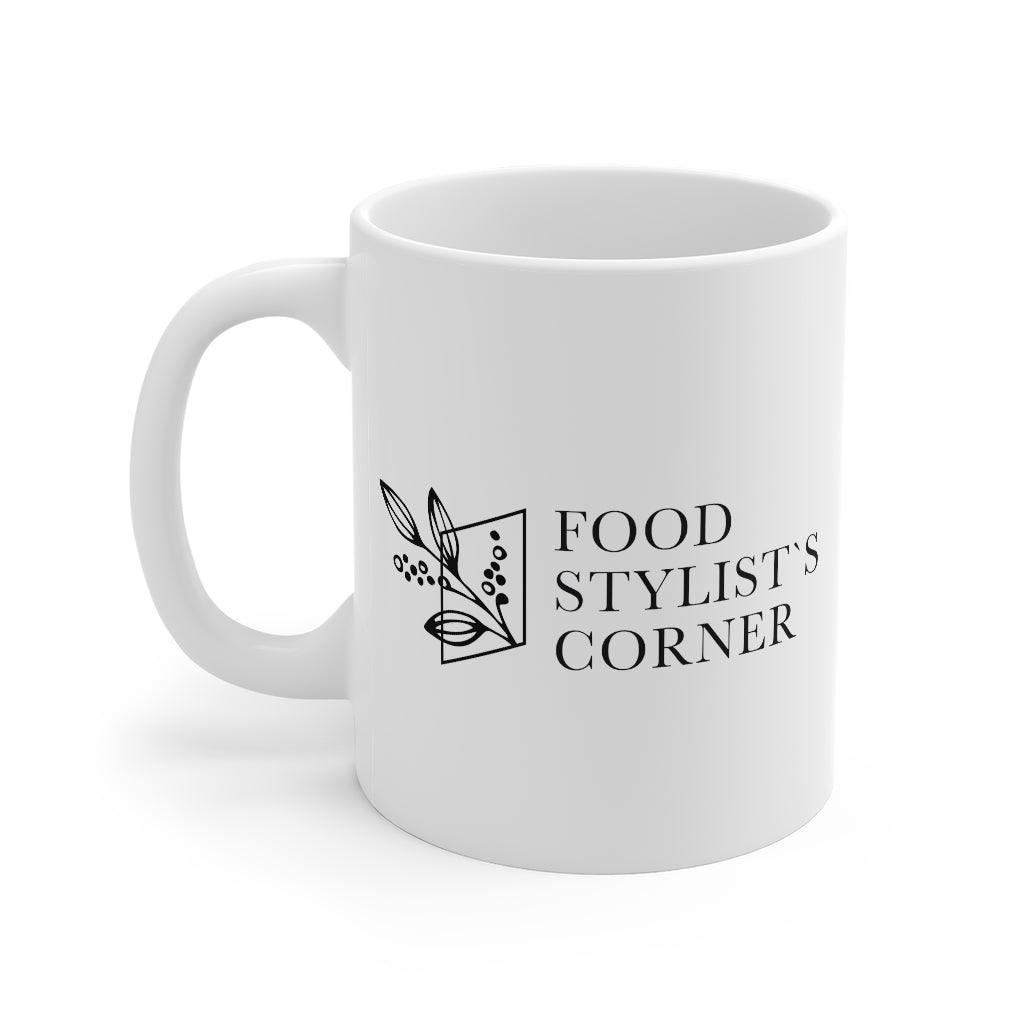 White Food Stylists Corner Mug 11oz - Food Stylists Corner