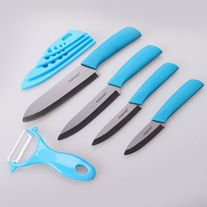 "Ceramic Knives and Peeler Sets |  3"" 4"" 5"" 6"" inch with Covers - Food Stylists Corner"
