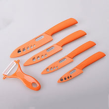 "Load image into Gallery viewer, Ceramic Knives and Peeler Sets |  3"" 4"" 5"" 6"" inch with Covers - Food Stylists Corner"