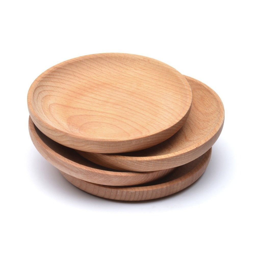 Small Round Wooden Snack Plate - Food Stylists Corner