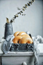 Load image into Gallery viewer, Antique French Iron Serving Trays - Food Stylists Corner