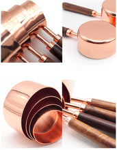Load image into Gallery viewer, Rose Gold Stainless Steel Measuring Cups, Spoons and Scoops Sets - Food Stylists Corner