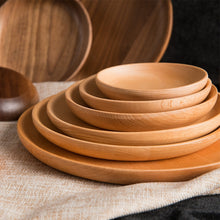 Load image into Gallery viewer, Round Walnut Wood Plates - Food Stylists Corner