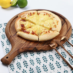 Wood Pizza Paddle Serving Board - Food Stylists Corner