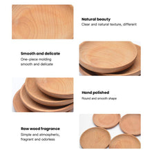 Load image into Gallery viewer, Small Round Wooden Snack Plate - Food Stylists Corner