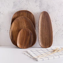 Load image into Gallery viewer, Irregular Oval Wood Plates and Sets - Food Stylists Corner
