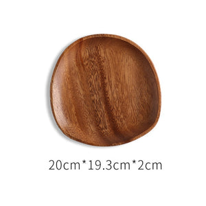 Irregular Oval Wood Plates and Sets - Food Stylists Corner