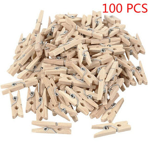 Wood Clothes Pin | 50/100/200 Pcs - Food Stylists Corner
