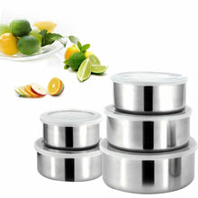 Load image into Gallery viewer, 5-piece Stainless Steel Mixing Bowls - Food Stylists Corner