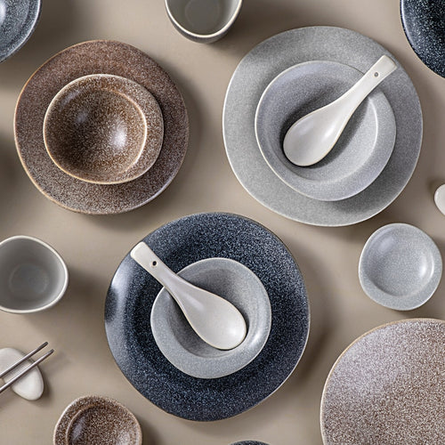 Japanese Style Ceramic Retro Stone Tableware - Food Stylists Corner