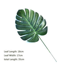 Load image into Gallery viewer, Tropical Plastic Leaves props - Food Stylists Corner