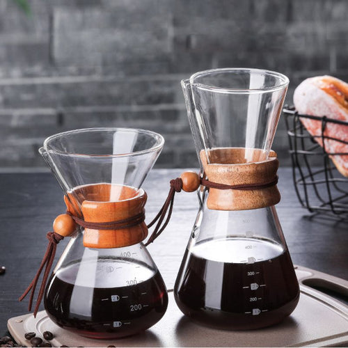 Pour Over Coffee Makers with Wood Handel - Food Stylists Corner