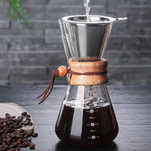 Load image into Gallery viewer, Pour Over Coffee Makers with Wood Handel - Food Stylists Corner