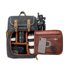 Load image into Gallery viewer, Pro Vintage DSLR Backpack - Food Stylists Corner