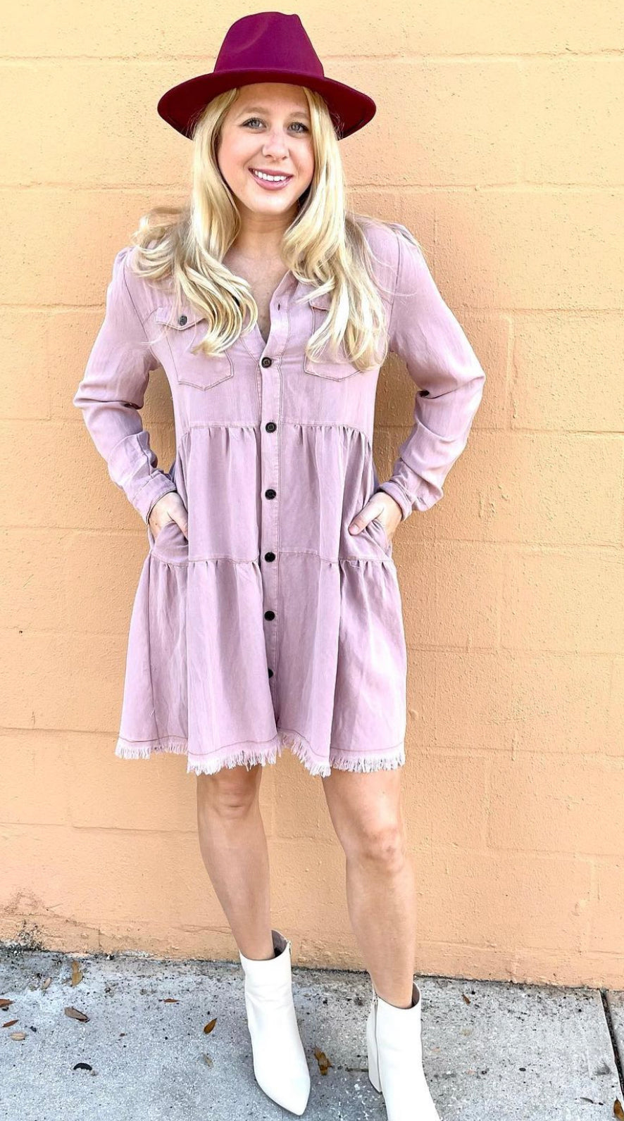 Mauve Flower Dress