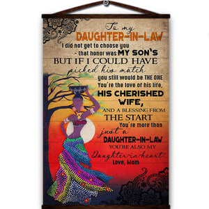 African women canvas poster to my daughter in law i could have picked his match still would be the one you're the love of his life love mom