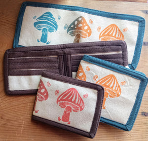 Mushroom Bifold Wallet ~ Assorted Colors