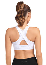 Load image into Gallery viewer, Abi & Joseph Leo High Tech Sports Bra - White