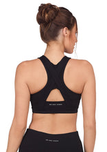 Load image into Gallery viewer, Abi & Joseph Leo Hi-Tech Sports Bra - Black