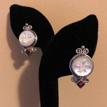 Load image into Gallery viewer, Sajen Sterling and Garnet Clip On Earrings