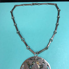 Load image into Gallery viewer, Vintage Sterling and Abalone Pendant and Chain