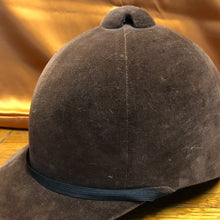 Load image into Gallery viewer, Vintage Kauffman NY Brown Velveteen Equestrian Helmet - 7