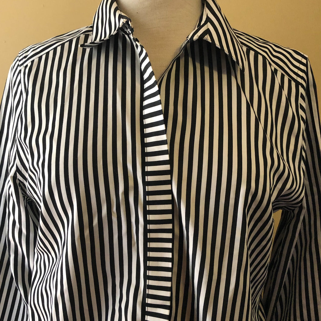 Chico's Sateen Stripe Women's Shirt - .5