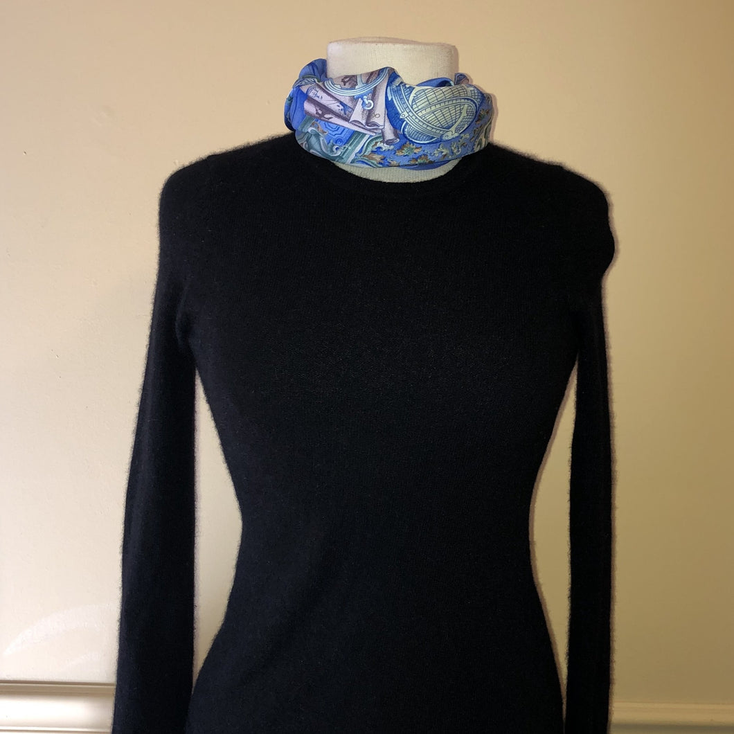 Charter Club Luxury Black Cashmere Sweater - Small