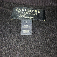Load image into Gallery viewer, Charter Club Luxury Black Cashmere Sweater - Small