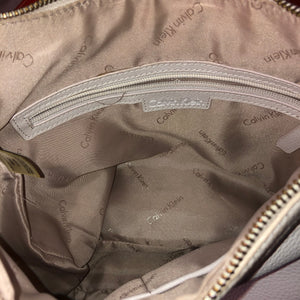 Calvin Klein Cream Leather Handbag