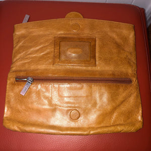 Hobo Caramel Leather Clutch