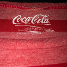 Load image into Gallery viewer, Coca Cola Striped T-shirt - Small