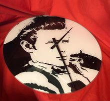 Load image into Gallery viewer, James Dean Glass Wall Clock