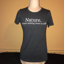 "Load image into Gallery viewer, ""Nature"" Graphic T-shirt - Medium"