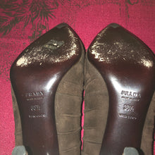 Load image into Gallery viewer, Prada Brown Suede Stiletto - 38.5 / 8